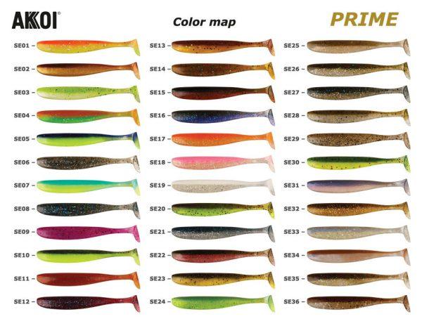 Akkoi PRIME színtáblázat